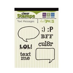 We R Memory Keepers - Hall Pass Collection - Clear Acrylic Stamps - Text Messages