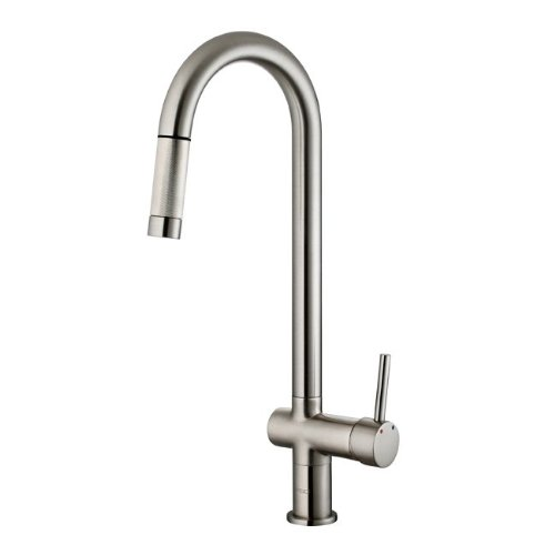 Vigo Industries VG02008ST Savona Kitchen Pull Out Spray Faucet, Steel