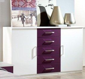 rauch kommode burano wei sandgrau k che haushalt. Black Bedroom Furniture Sets. Home Design Ideas