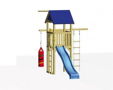 Winnetoo Spielturm Set 2 - mit Rutsche, allen Schrauben und Bodenankern u.v.m.