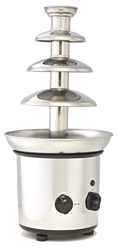 Great Deal! ClearMax CF-892 Electric 3-Tier Stainless Steel Chocolate Fountain, Silver