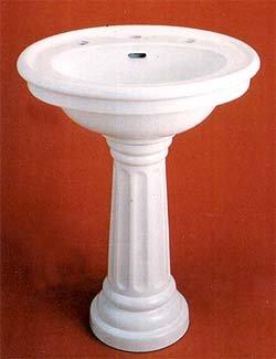 Buy Fluted Pedestal Sink (Sign of the Crab Sinks, Plumbing, Sinks, Bathroom, Pedestal)