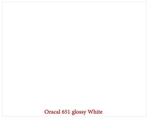 "12"" X 10 Ft Roll Of Glossy Oracal 651 White Repositionable Adhesive-Backed Vinyl For Craft Cutters, Punches And Vinyl Sign Cutters By Vinylxsticker front-862298"