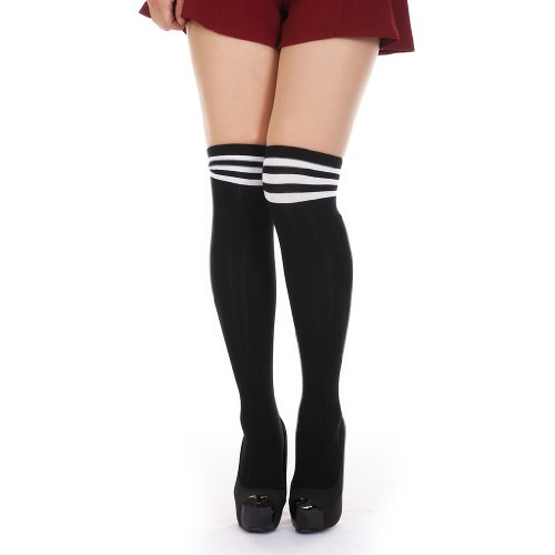 Danischoice Over Knee Socks Trimmed with Stripe
