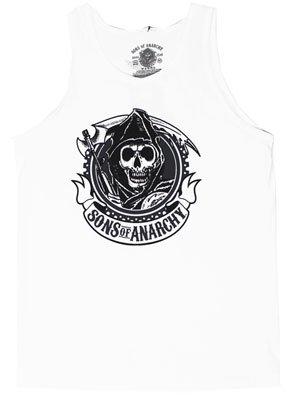 Circle Reaper – Sons Of Anarchy Tank Top: Adult Large – White