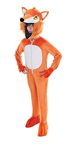 Orange Fox Big Head Childrens Costume
