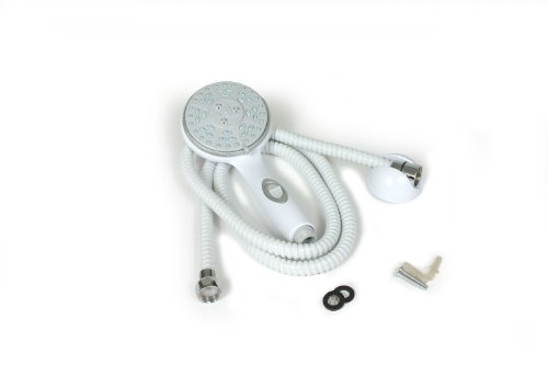 Camco 43714 White Shower Head Kit with On/Off Switch and 60