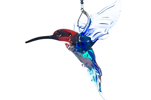 Hanging Glass Hummingbird Collectable Miniature Great Gift and Christmas Ornament