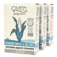 Quinn Popcorn: Microwave Popcorn Reinvented {Vermont Maple & Sea Salt},3 pack (Organic Popcorn Quinn compare prices)