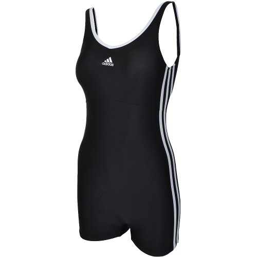 Adidas Infinitex Womens Legged Swimming Costume - Black - 6 (30