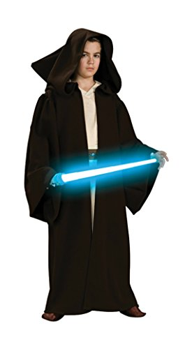 Boys Jedi Robe Super Deluxe Kids Child Fancy Dress Party Halloween Costume