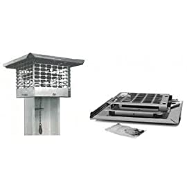 Damper Cap 17 x 17 Stainless Steel Chimney Cap K/D Model