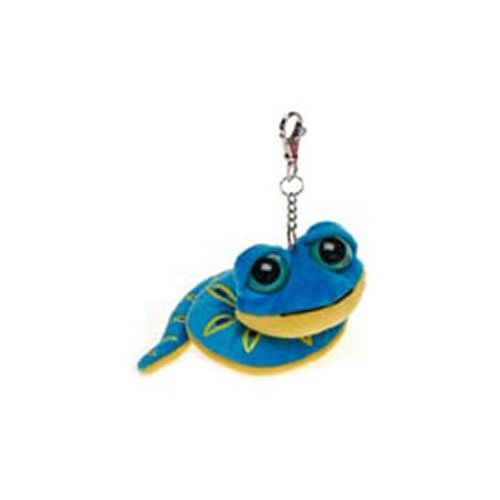 Fiesta Plush - Key Clip - BIG EYED SNAKE (Blue w/ Metal Clip - 11 inch)