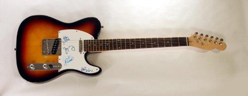 Wilco Signed Autograph Electric Guitar Tweedy X3 Sunburst T-Type Standard Guitar