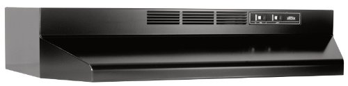 Broan 413623 Non-ducted Under Cabinet Hood, 36-Inch, Black