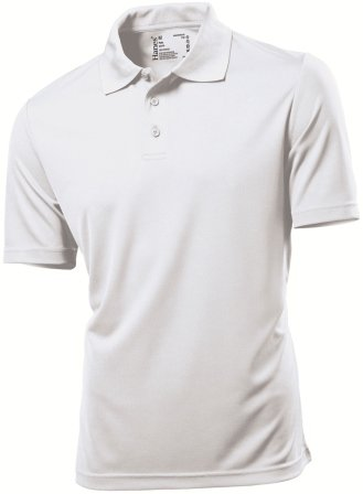 Hanes 7730 Mens Cool-DRI® Polo Shirt White M