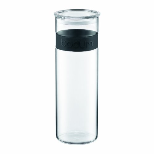 Bodum Presso 64-Ounce  Glass Storage Jar, Black (Liquid Jar compare prices)
