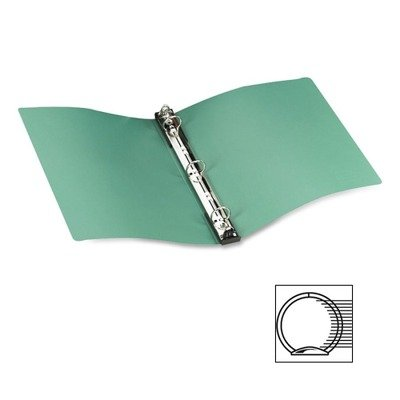 Avery Products - Avery - Hanging File Poly Ring Binder, 1 Capacity, Green - Sold As 1 Each - Pull retractable storage hooks out to lock rings and hang file away neatly; tabs push in to open rings for easy document removal. - Hanging storage hooks retrac