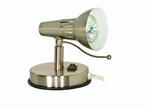 Nuvo 60/852 Halogen Pin Up Lamp, Brushed Nickel