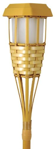 Solar Powered Tiki Torch LED Path Light, Natural