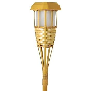 Solar Powered Tiki Torch LED Path Light, Natural