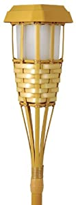Moonrays 91206 Solar Powered Tiki Torch Path Light