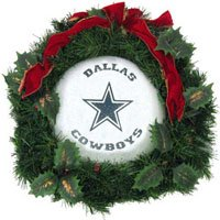 SC Sports Dallas Cowboys 22-inch Fiber Optic Wreath at Amazon.com