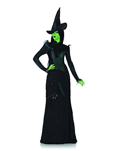 Deluxe Defying Gravity Elphaba, top, long layered ruffle skirt, witch hat-WI85266