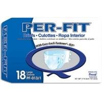 "PER-FIT Adult Briefs - Large - 45""-58"" - - Case of 72"