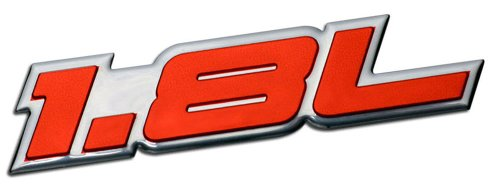 1.8L Liter Embossed RED on Highly Polished Silver Real Aluminum Auto Emblem Badge Nameplate for Kia Spectra LS Sephia Elantra Forte LX Scion xD Hatchback 4 5 door Hyundai Elantra GLS Volkswagen VW Golf GTI New Classic Beetle GLX Jetta GLI Passat GL Cabrio 1.8T Sedan coupe 2 3 4 5 2dr 3dr 4dr 5dr door hatchback turbo turbocharged (Kia Forte Emblem Red compare prices)