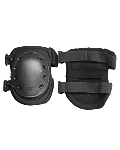 Heavy Duty Swat Knee Protection Pads Protective Security Paintball Airsoft Black