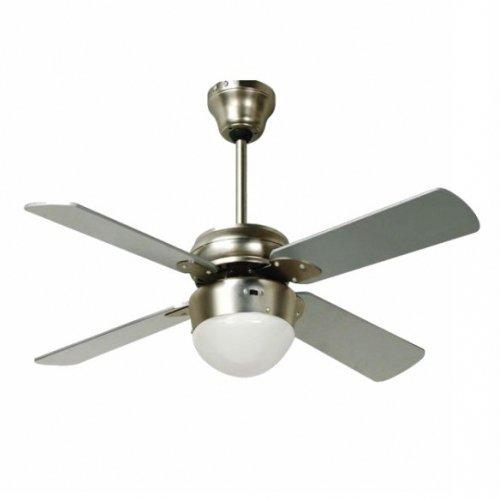 Ventilatore da Soffitto 1xE27 4 Pale Colore Alluminio Linea Mart