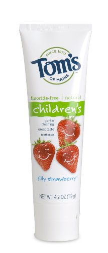 Tom's of Maine - Fluoride Free Children's Toothpaste, Silly Strawberry, 4.2-Ounce (Pack of 3)