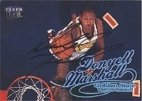 Donyell Marshall Golden State Warriors 1998 Fleer Ultra Autographed Hand Signed... by Hall of Fame Memorabilia