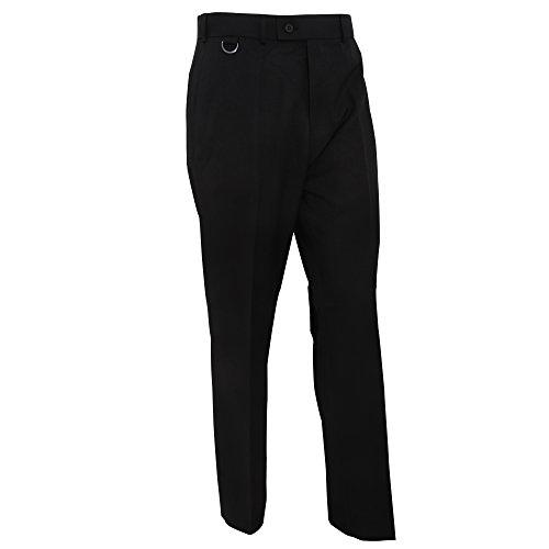 Brook Taverner - Mars - Pantalone Classico - Uomo (Vita 96 cm circa) (Nero)