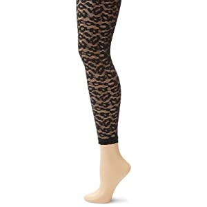 Betsey Johnson Women's Animal House Legging, Black, Small/Medium