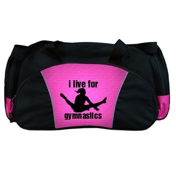 I Live For Gymnastics: Custom Port & Company Large Square Duffel Bag