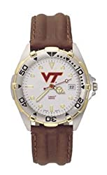 Virginia Tech Hokies All Star Leather Mens Watch