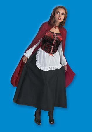 Disguise Womens Riding Hood Deluxe Adult Costume (12-14) Red