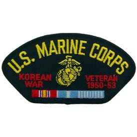 US Military Korea & WWII Iron On Patch - USMC Korean War Veteran 1950-1953
