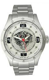 Ed Hardy Tiger Brute Silver Dial Men's watch #BR-SR