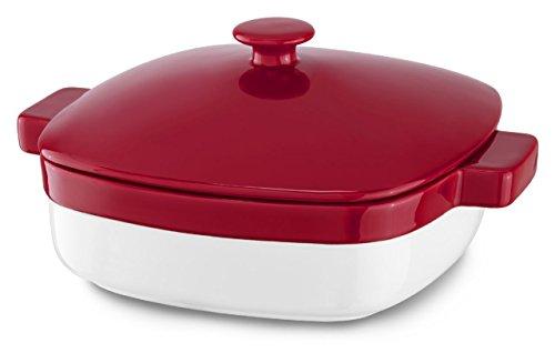 KitchenAid KBLR42CRER Streamline Ceramic 4.2-Quart Casserole Bakeware - Empire Red (Red Kitchenaid Microwave compare prices)