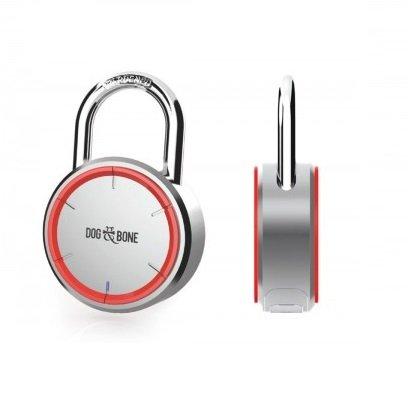Dog & Bone LockSmart Keyless Lock Bluetooth Padlock Silver