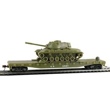 HO Flat/Patton Tank, US Ar (Model Power Ho Trains compare prices)