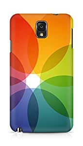 AMEZ designer printed 3d premium high quality back case cover for Samsung Galaxy Note 3 (translucent flower abstract)
