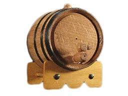 Deep South Barrels - Two Liter Black Steel Oak Aging Barrel