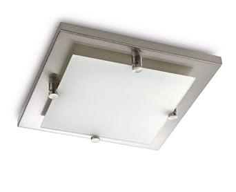 Plafoniere Led 60x60 Philips : Philips cross lampada quadrata da soffitto nickel lato cm