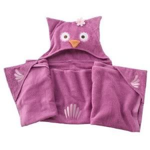 Jumping Beans® Olivia Owl Hooded Children's Bath Towel ( 27 X 0.5 X 54 Inches ; 10 Pounds ) Baby / Child / Infant / Kid