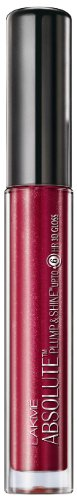 Lakme Absolute Plump and Shine Lip Gloss, Kirsche Shine, 3 ml