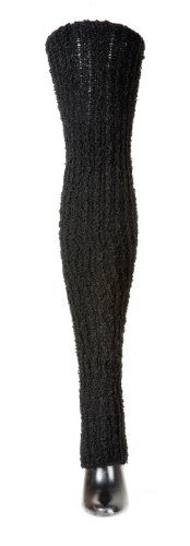 18 Inch Knee High Italian Boucle Merino Wool Stretchy, Soft & Warm High End Merino Wool Stretch Knit Leg Warmers Made In Usa